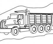 Coloriage et dessins gratuit Le Camion Berliet à imprimer