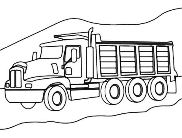 Coloriage et dessins gratuits Le Camion Berliet à imprimer