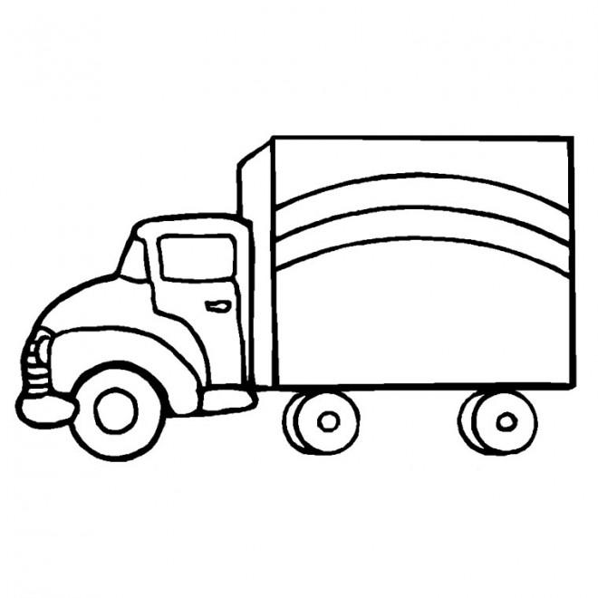 Coloriage et dessins gratuits Le Camion de transport à imprimer