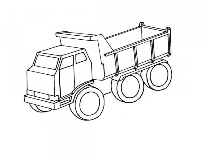 Coloriage et dessins gratuits Le Véhicule de transport camion à imprimer