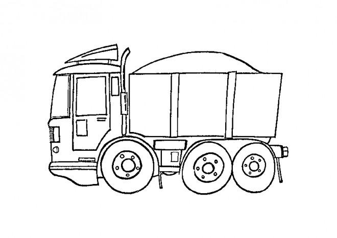 Coloriage et dessins gratuits Petit Camion Benne à imprimer