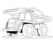 Coloriage et dessins gratuit Un Camion Benne géant à imprimer