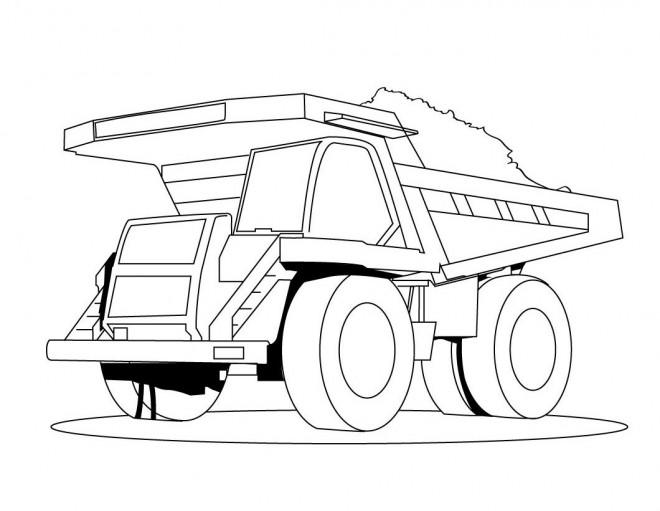 Coloriage et dessins gratuits Un Camion Benne géant à imprimer
