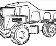 Coloriage camion benne gratuit imprimer liste 40 60 - Camion benne tonka ...