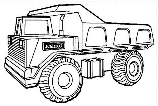Coloriage un camion benne tonka facile dessin gratuit imprimer - Camion benne tonka ...