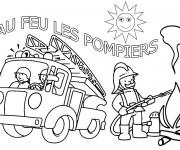 Coloriage Camion Pompier