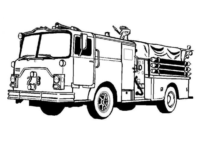 Coloriage camion de pompier am ricain dessin gratuit imprimer - Dessin anime pompier gratuit ...