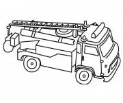 Coloriage et dessins gratuit Camion Pompier à télécharger à imprimer