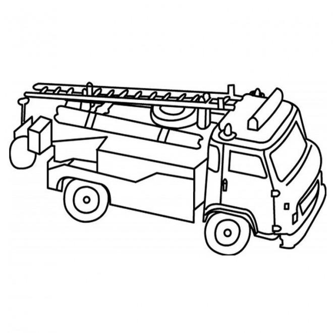 Coloriage camion pompier t l charger - Camion americain dessin ...