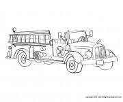 Coloriage Camion Pompier classique