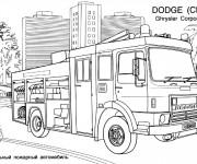 Coloriage et dessins gratuit Camion Pompier Dodge à imprimer