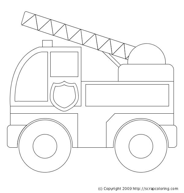 Coloriage et dessins gratuits Camion Pompier en ligne à imprimer