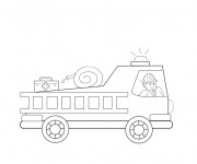 Coloriage Camion Pompier en ligne pour enfant