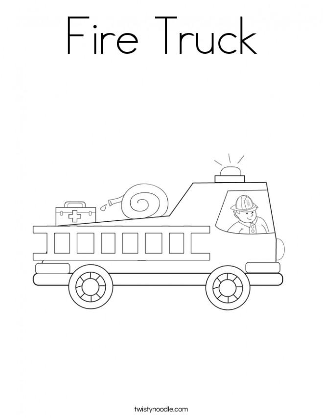 Coloriage et dessins gratuits Camion Pompier en ligne pour enfant à imprimer