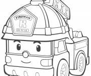 Coloriage et dessins gratuit Camion Pompier Fireman Lego City à imprimer