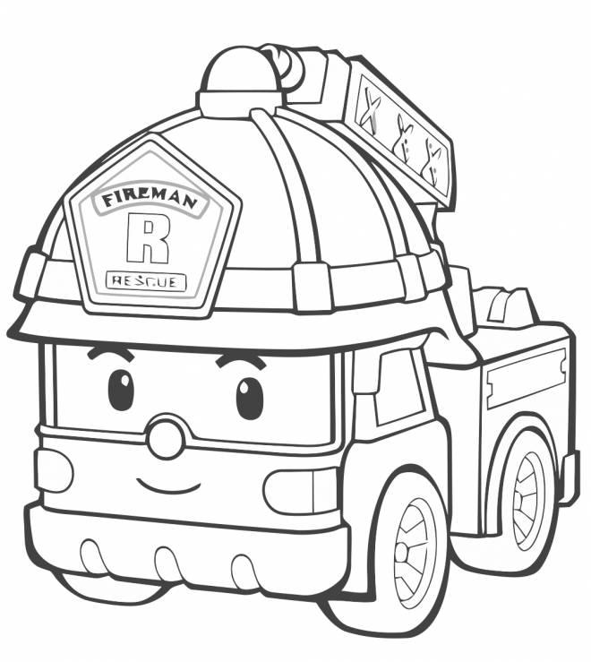 Coloriage Camion Pompier Fireman Lego City Dessin Gratuit A Imprimer