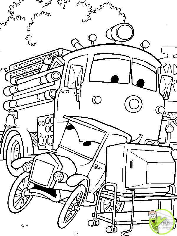 Coloriage Camion Pompier Flash Mcqueen Dessin Gratuit A Imprimer