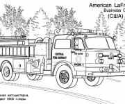 Coloriage Camion Pompier La France