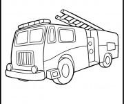 Coloriage Camion Pompier pour adulte