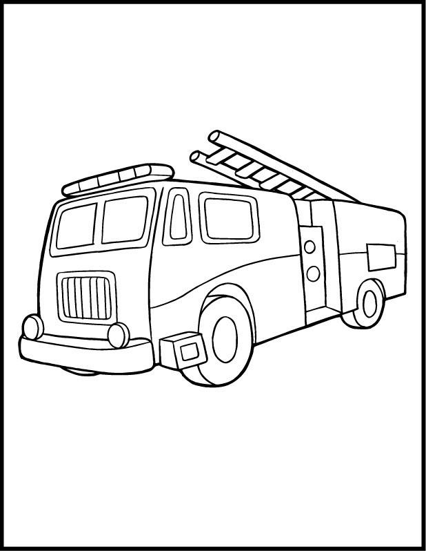 Coloriage et dessins gratuits Camion Pompier pour adulte à imprimer