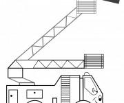 Coloriage et dessins gratuit Camion Pompier pour enfant à imprimer