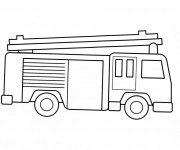 Coloriage Camion Pompier simple