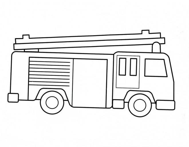 Coloriage Camion Pompier Simple Dessin Gratuit A Imprimer