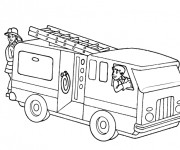 Coloriage Camion Pompier sur ordinateur