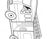 Coloriage Camion Pompier vectoriel maternelle