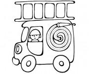 Coloriage Mini Camion Pompier magique