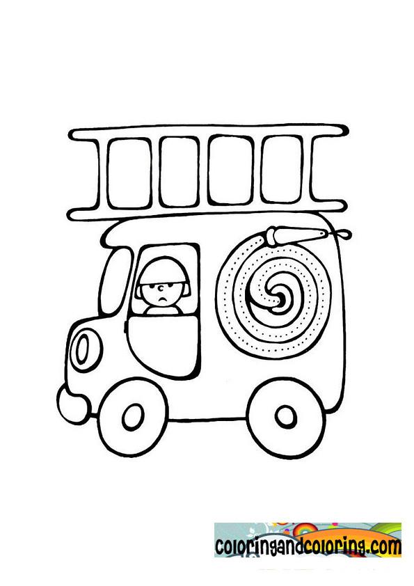 Coloriage Magique Camion De Pompier.Coloriage Mini Camion Pompier Magique Dessin Gratuit A Imprimer