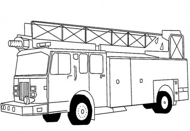 Coloriage un camion de pompier am ricain dessin gratuit - Dessin de camion americain ...