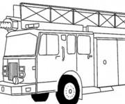 Coloriage Un Camion Pompier américain à colorier