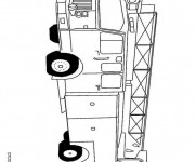 Coloriage Véhicule Camion Pompier à décorer