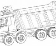 Coloriage et dessins gratuit Camion à benne à imprimer