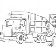 Coloriage et dessins gratuit Camion poubelle à imprimer