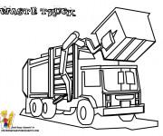 Coloriage et dessins gratuit Camion Poubelle à benne à imprimer