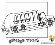 Coloriage et dessins gratuit Camion Poubelle à compléter à imprimer