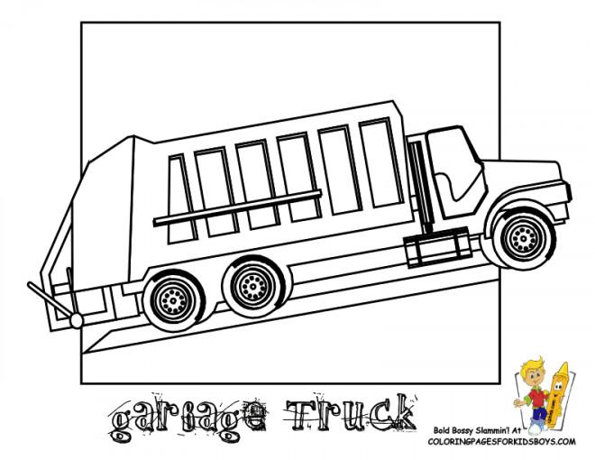 Coloriage et dessins gratuits Camion Poubelle à compléter à imprimer