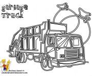 Coloriage et dessins gratuit Camion Poubelle à décorer à imprimer