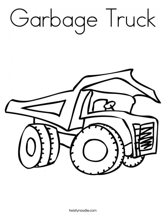 Coloriage et dessins gratuits Camion Poubelle au crayon à imprimer