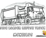 Coloriage et dessins gratuit Camion Poubelle en ligne à imprimer
