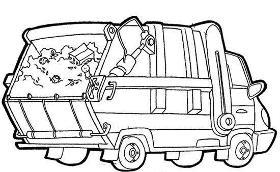 Coloriage et dessins gratuits Camion Poubelle facile à imprimer