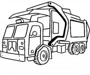Coloriage et dessins gratuit Camion Poubelle moderne à imprimer