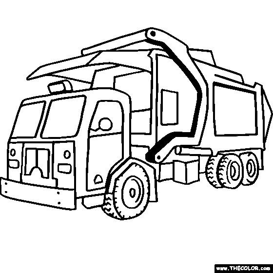 Coloriage et dessins gratuits Camion Poubelle moderne à imprimer