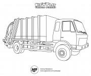 Coloriage et dessins gratuit Camion Poubelle stylisé à imprimer