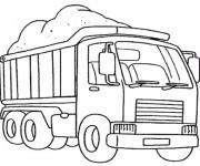 Coloriage Camion remorque