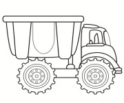 Coloriage Camion simple