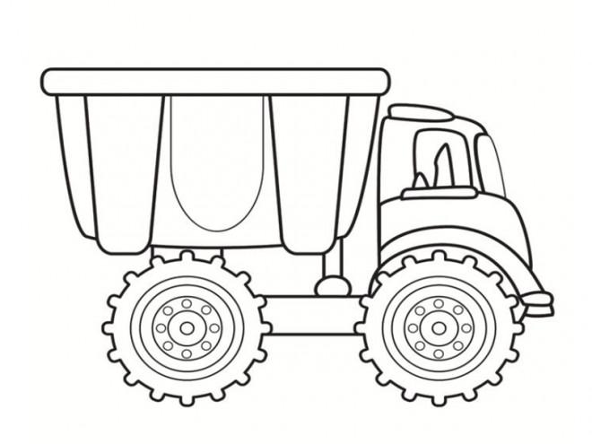 Coloriage et dessins gratuits Camion simple à imprimer