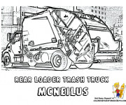 Coloriage image de camion poubelle dessin gratuit imprimer - Coloriage camion de poubelle ...